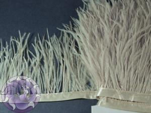 Лента из перьев страуса 8-10см цвет Телесный