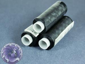 Нитки вискоза для вышивания Gamma 75/2 400м Черные