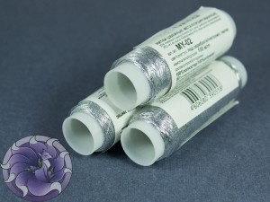 Нитки маталлизированные для вишивки Gamma 100м Серебро