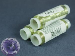 Нитки маталлизированные для вишивки Gamma 100м Светлое золото