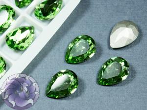 Кристалл Капля К9 стекло 18х13мм цвет Peridot