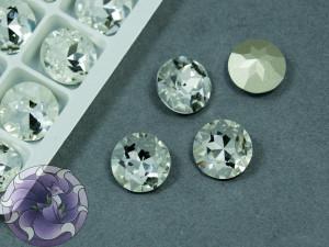 Кристалл К9 круглый 12мм цвет Crystal