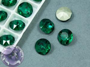 Кристалл К9 круглый 12мм цвет Emerald
