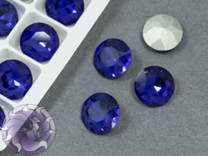 Кристалл К9 круглый 12мм цвет Sapphire