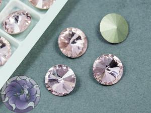 Кристаллы К9 Риволи 12мм цвет Light Rose