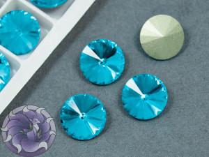 Кристаллы К9 Риволи 12мм цвет Aquamarine