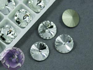Кристаллы К9 Риволи 12мм цвет Crystal
