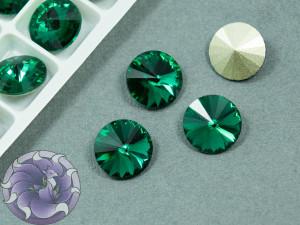 Кристаллы К9 Риволи 12мм цвет Emerald