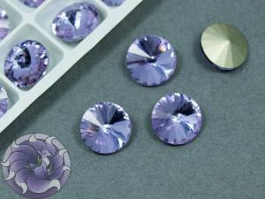 Кристаллы К9 Риволи 12мм цвет Violet
