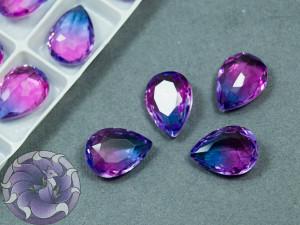 Кристаллы стекло К9 Капля 14х10мм цвет турмалин Violet Blue 004TO