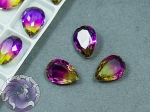 Кристаллы стекло К9 Капля 14х10мм цвет турмалин Violet Topaz 008TO