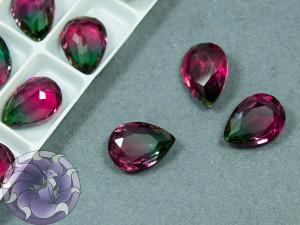 Кристаллы стекло К9 Капля 14х10мм цвет турмалин Siam Green 001TO