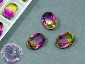 Кристалл К9 Овал 14х10 Цвет турмалин Violet Topaz 008TO