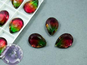 Кристаллы К9 Капля 18х13мм цвет турмалин Siam Green 001TO