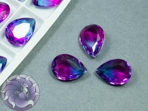 Кристаллы К9 Капля 18х13мм цвет турмалин Violet Blue 004TO