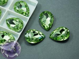 Кристалл стекло К9 Капля 25х18мм цвет Peridot