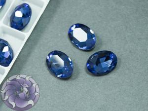 Кристал К9 Овал 14х10мм Цвет Sapphire
