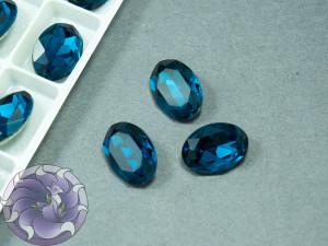 Кристал К9 Овал 14х10мм Blue Zircon