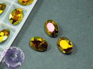 Кристал К9 Овал 14х10мм Copper