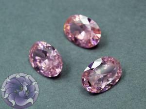 Кристалл фианит Овал 10х14мм Цвет Розовый