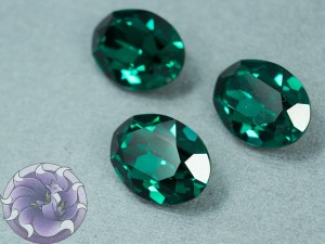 Кристалл 4120 Swarovski Овал 18х13мм цвет EMERALD foiled