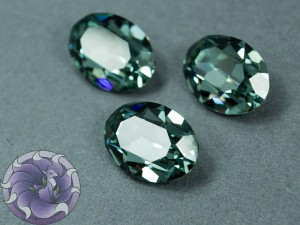 Кристалл 4120 Swarovski Овал 18х13мм цвет Indian sapphire foiled