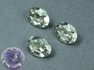 Кристалл 4120 Swarovski Овал 14х10мм цвет Black Diamond foiled