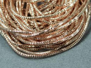 Канитель трунцал 1.5мм цвет Розовое золото 5 грамм