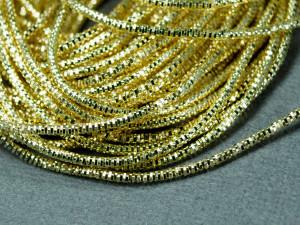 Канитель трунцал 1 мм цвет Светлое Золото 5г