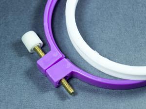 Пяльце пластиковое 7,5см мини цвет Фиолетовый