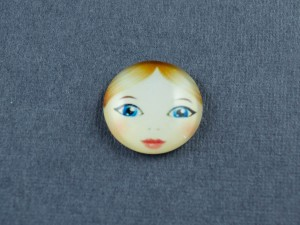 Кабошон лицо матрешки, стекло 18мм, 12мм №2