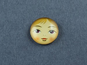 Кабошон лицо матрешки, стекло 18мм, 12мм №4