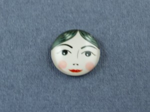 Кабошон лицо матрешки, стекло 18мм, 12мм №14