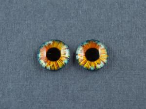 Кабошон стекло глазки №33 Размер 8мм, 10мм, 12мм пара