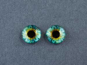 Кабошон стекло глазки №36 Размер 8мм, 10мм, 12мм пара