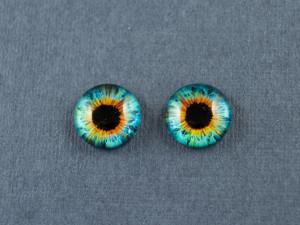 Кабошон стекло глазки №38 Размер 8мм, 10мм, 12мм пара