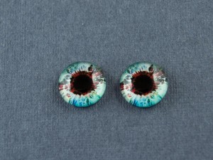 Кабошон стекло глазки №41 Размер 8мм, 10мм, 12мм пара