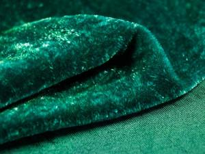 Шелковый бархат натуральный ручного окрашивания Цвет Изумруд