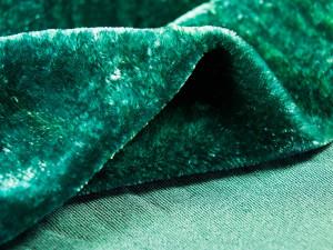 Шелковый бархат натуральный ручного окрашивания Цвет Темный Изумруд