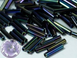 Стеклярус TOHO bugle #3 9мм Metallic Iris - Green Brown