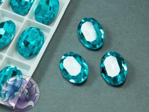 Кристал К9 Овал 14х10мм Цвет Aquamarine