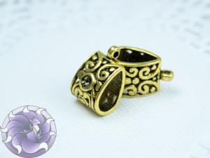 Бейл для украшений 16х12х6 цвет Античное золото
