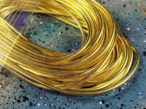 Канитель гладкая 1мм цвет Медовое золото 5г