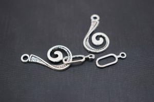 Тогл-крючок цвет античное серебро