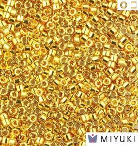 Бисер Miyuki Delica 11/0 DB0031 Gold 24kt Plated