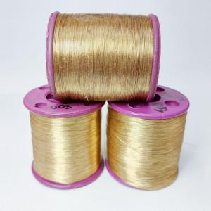 Нитки металлизированные для вышивки индийские Golden Brown 003