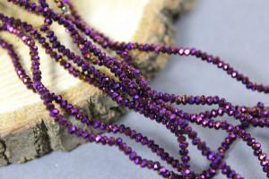 Бусины Рондели 1.8*2.4мм, R1-106 Фиолетовый металлик