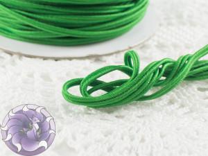 Сутажный шнур Япония матовый 3мм цвет Зеленый