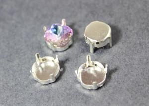 Оправы для кристаллов Квадрат серебро