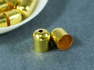 Концевик для шнуров, жгута и кистей 8х9мм цвет Золото